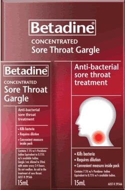 Sore throat gargle