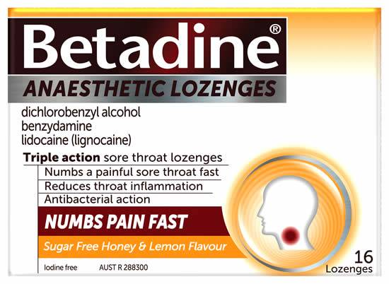 Betadine Anaesthetic HONEY & LEMON