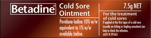 Betadine Cold Sore Ointment