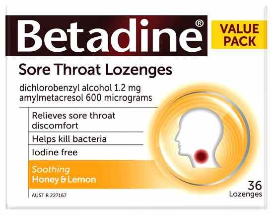 Betadine HONEY & LEMON